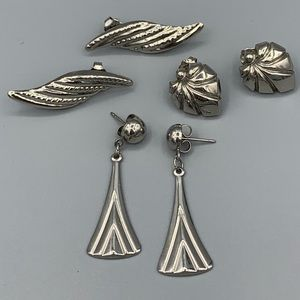 Jewelry - Lot of Lightweight Silver Earrings - 3 Pairs